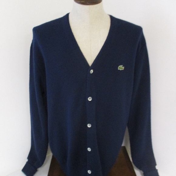 455f8f0f5 Lacoste Other - Lacoste Vintage Orlon Men s Cardigan Sweater Large